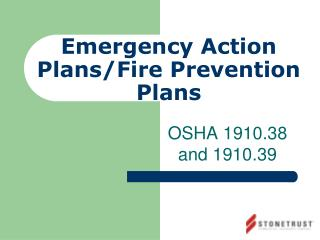 Emergency Action Plans /Fire Prevention Plans