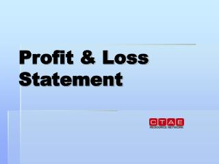 Profit & Loss Statement
