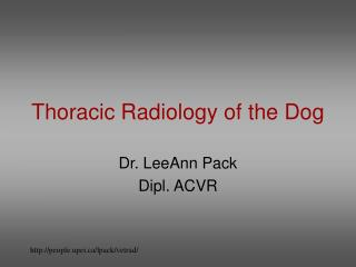 Thoracic Radiology of the Dog