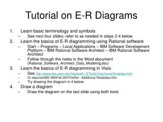 Tutorial on E-R Diagrams