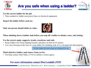 Are you safe when using a ladder?