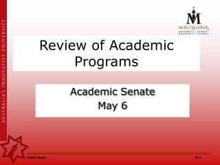 Review of Academic Programs