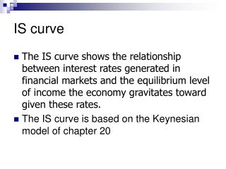 IS curve
