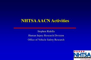 NHTSA AACN Activities