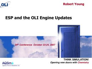 ESP and the OLI Engine Updates