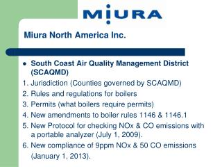 Miura  North America  Inc.