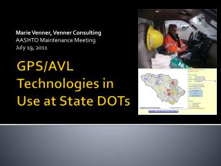 GPS/AVL Technologies in Use at State DOTs