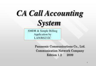 Panasonic Communications Co., Ltd. Communication Network Company Edition 1.2      2009