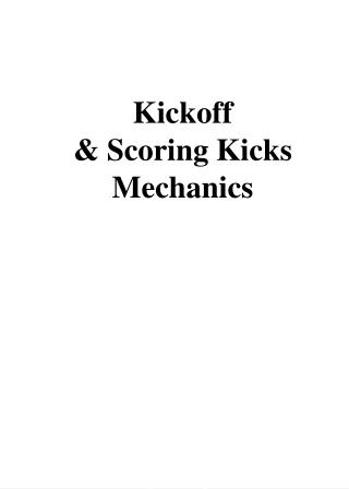 Kickoff & Scoring Kicks Mechanics