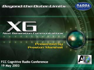 FCC Cognitive Radio Conference 19 May 2003