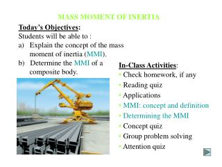 MASS MOMENT OF INERTIA