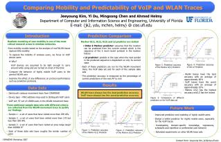 Comparing Mobility and Predictability of VoIP and WLAN Traces