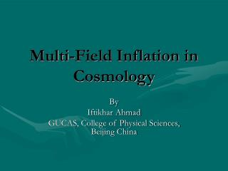 Multi-Field Inflation in Cosmology