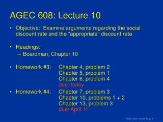 AGEC 608: Lecture 10