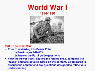 World War I  1914-1920