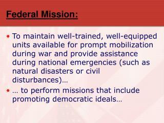 Federal Mission: