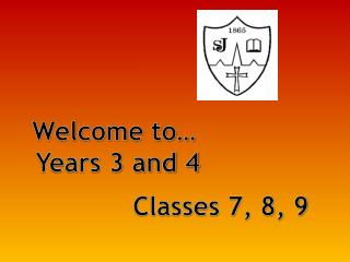 Welcome to…  Years 3 and 4