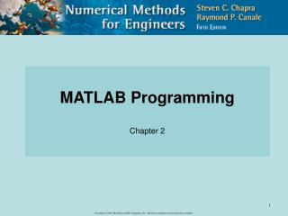 MATLAB Programming Chapter 2