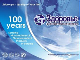 Zdorovye – Quality of Your Life!