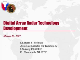 Digital Array Radar Technology Development