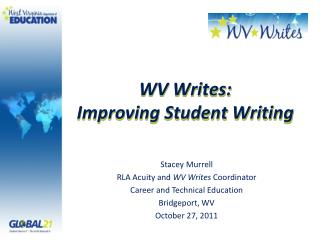 WV Writes: Improving Student Writing