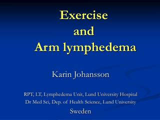Exercise  and  Arm lymphedema