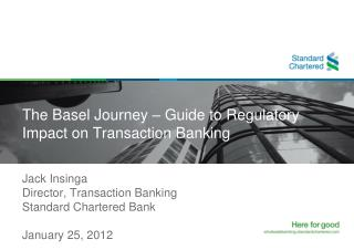 The Basel Journey – Guide to Regulatory Impact on Transaction Banking