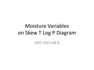 Moisture Variables  on Skew T Log P Diagram