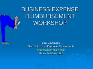 BUSINESS EXPENSE  REIMBURSEMENT WORKSHOP