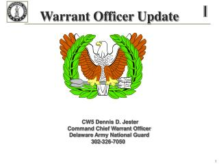 Warrant Officer Update