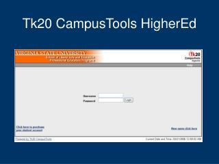 Tk20 CampusTools HigherEd