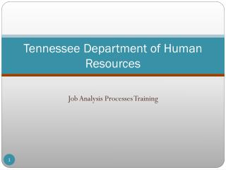 Tennessee Department of Human Resources