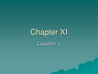 Chapter XI