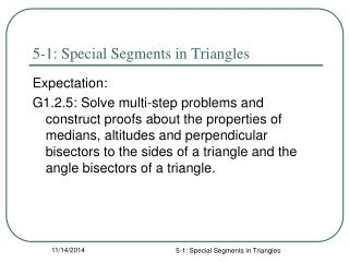 5-1: Special Segments in Triangles