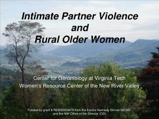 Intimate Partner Violence  and  Rural Older Women