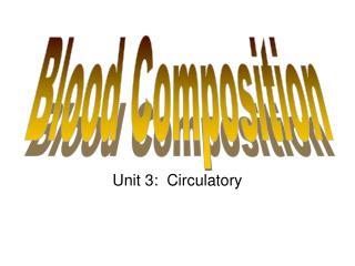 Unit 3:  Circulatory