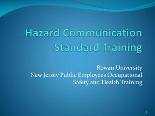 Hazard Communication Standard Training