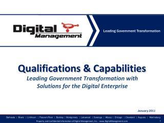Qualifications & Capabilities