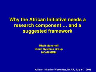 Why the African Initiative needs a research component … and a suggested framework