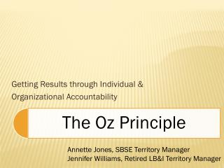 Getting Results through Individual & Organizational Accountability