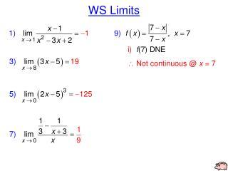 WS Limits