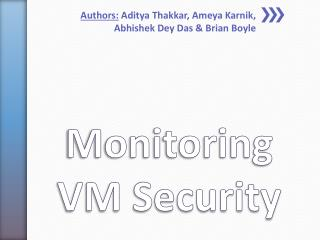 Monitoring VM Security