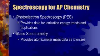 Spectroscopy for AP Chemistry