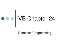 VB Chapter 24