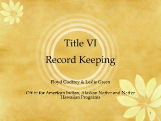 Title VI Record Keeping