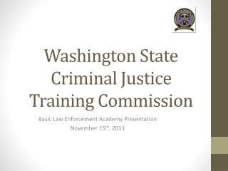 Washington State Criminal Justice Training Commission