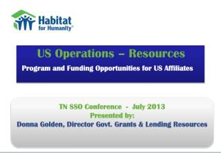 US Operations � Resources Program and Funding Opportunities for US Affiliates