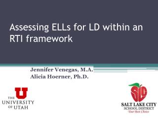 Assessing ELLs for LD within an RTI framework