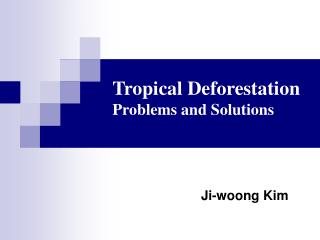 Tropical Deforestation Problems and Solutions