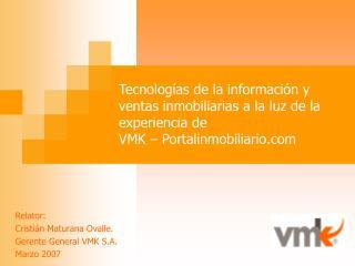 Tecnolog as de la informaci n y ventas inmobiliarias a la luz de la experiencia de  VMK   Portalinmobiliario